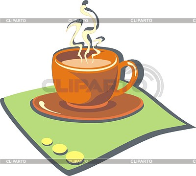 Tasse mit heißem Kaffee | Stock Vektorgrafik |ID 2007298
