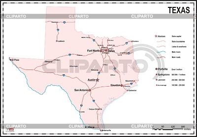 Texas map | Klipart wektorowy |ID 2010137