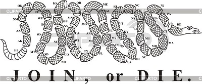 Snake stock photos and vektor eps clipart cliparto 4 for Join or die tattoo