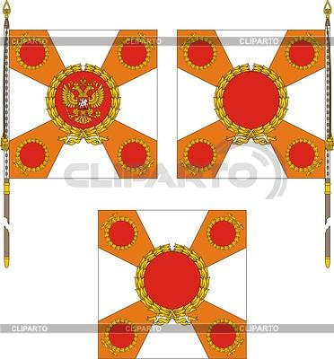 Russian regiment standard template | Klipart wektorowy |ID 2000900