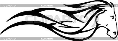 Horse flame | Klipart wektorowy |ID 2015738