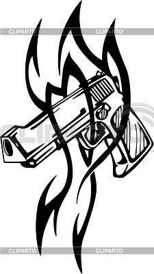 Pistole Tattoo | Stock Vektorgrafik |ID 2014234