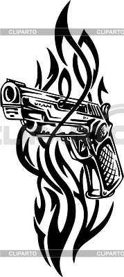 Pistole Tattoo | Stock Vektorgrafik |ID 2019014