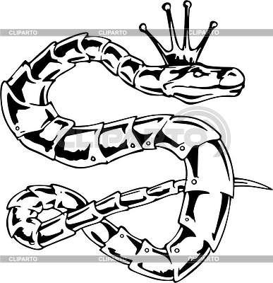 змея векторный клипарт: