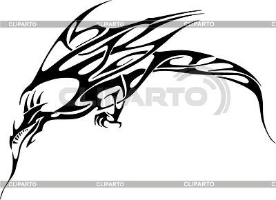 Dragon tattoo | Klipart wektorowy |ID 2013894