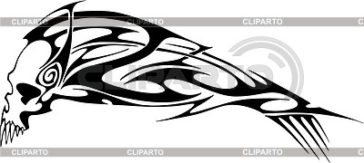 Symmetrisches schädel tattoo vector images com