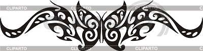 Symmetrisches Schmetterling Tattoo | Stock Vektorgrafik |ID 2016814