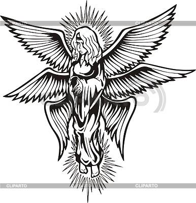 Sechs-geflügelter gestrahlte Engel | Stock Vektorgrafik |ID 2015829