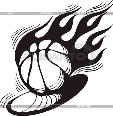 Basketball flame | Klipart wektorowy |ID 2020841