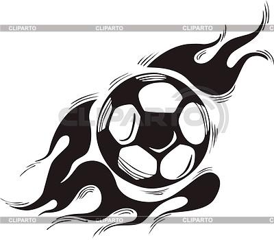 Soccer ball flame | Klipart wektorowy |ID 2020847