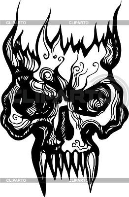 Skull flame | Klipart wektorowy |ID 2020570
