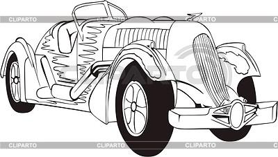 Vintage hot rod | Klipart wektorowy |ID 2019901