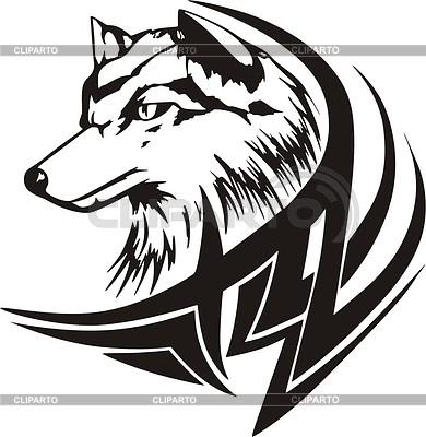 Tribal dog tattoo | Klipart wektorowy |ID 2003014