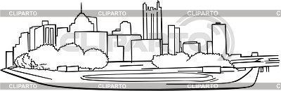Pittsburgh Skyline Drawing Pittsburgh Skyline