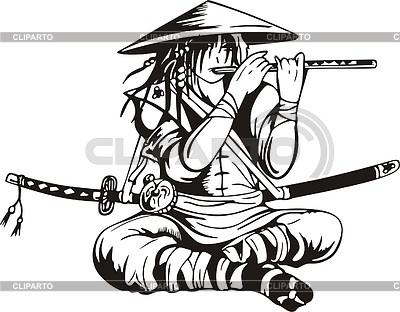 Japanischer Krieger | Stock Vektorgrafik |ID 2016595
