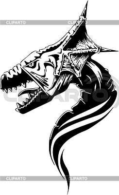 Голова дракона | Векторный клипарт |ID 2015677