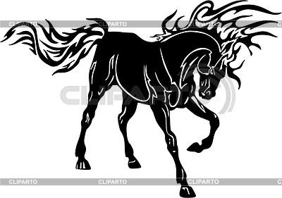 Pferd Flamme | Stock Vektorgrafik |ID 2015774