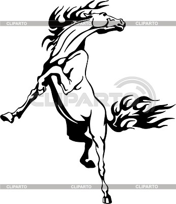 Horse flame | 벡터 클립 아트 |ID 2015775