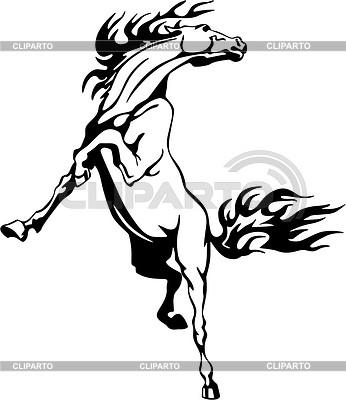Horse flame | Klipart wektorowy |ID 2015775