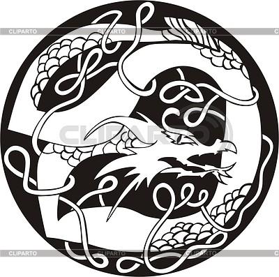 Dragon knot | Klipart wektorowy |ID 2005075