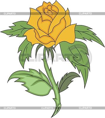 Желтая роза | Векторный клипарт |ID 2018598