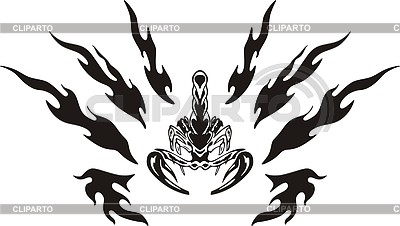 Symmetrisches Skorpion Tattoo | Stock Vektorgrafik |ID 2017043