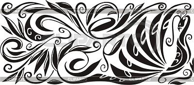 Peacock ornamental pattern   Klipart wektorowy  ID 2001514