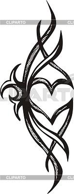 Heart tattoo | Klipart wektorowy |ID 2003012