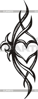 Heart tattoo | 벡터 클립 아트 |ID 2003012