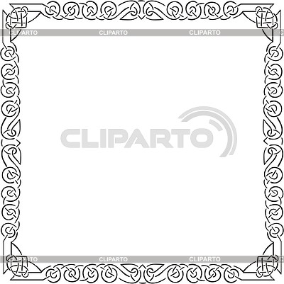 Keltischer quadratische Rahmen | Stock Vektorgrafik |ID 2004777