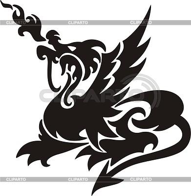 Dragon tattoo | Klipart wektorowy |ID 2003066