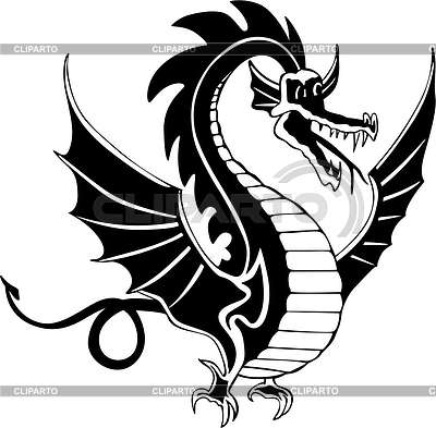 Dragon tattoo | Klipart wektorowy |ID 2022544