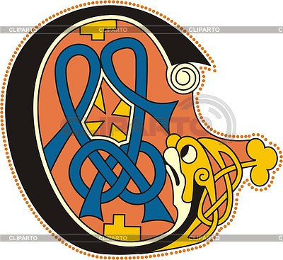 Keltischer Buchstabe C | Stock Vektorgrafik |ID 2023670