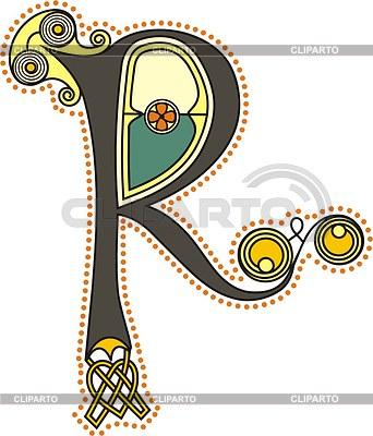 Celtic initial letter R | Klipart wektorowy |ID 2023673