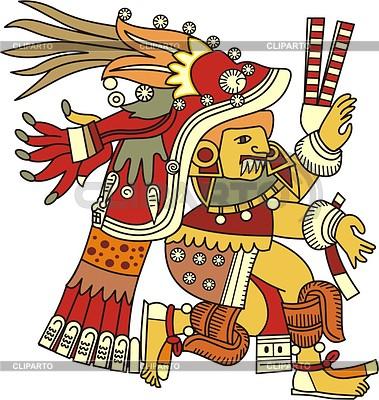 Aztec  Stock Photos and Xiuhtecuhtli Aztec God Of Fire