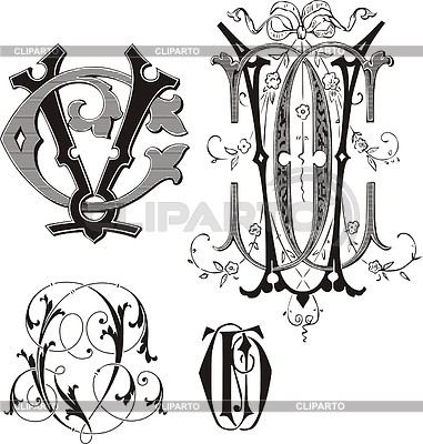 Monogram CV | Stock Vector Graphics |ID 2025888