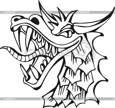 Драконья голова | Векторный клипарт |ID 2019685