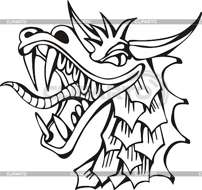 Dragon head | 벡터 클립 아트 |ID 2019685