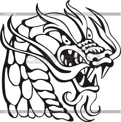 Dragon head | Klipart wektorowy |ID 2019693