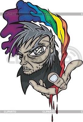 Rainbow-Mensch Avatar | Stock Vektorgrafik |ID 2023488