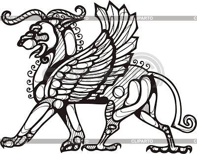 Babylonischer Greif | Stock Vektorgrafik |ID 2024257
