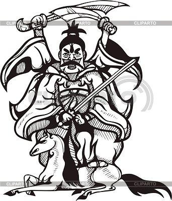 Chinesische Pferden-Gottheit | Stock Vektorgrafik |ID 2024276