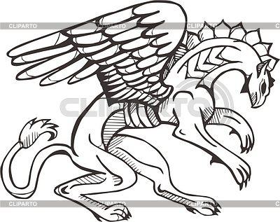 Scythian griffin | Klipart wektorowy |ID 2024331