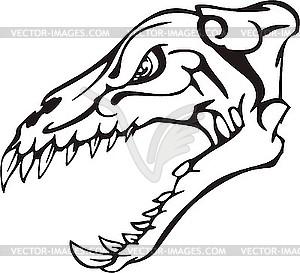 Dinosaurier-Schädel - vektorisierte Grafik