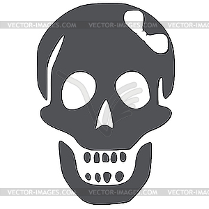 Schädel mit weißem Band - vektorisiertes Clip-Art