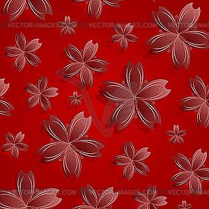 Muster von roten Blumen - Vektorabbildung