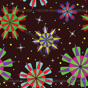 Abstraktes geometrisches nahtloses Muster - Vektor-Clipart / Vektor-Bild
