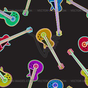 Muster mit E-Gitarren - Vektor Clip Art