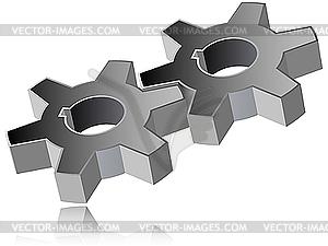 Zahnräder - Vektor-Clipart / Vektor-Bild