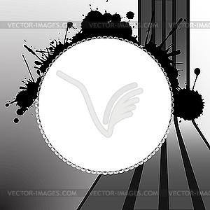 Runde splats Vorlage - Vector Clip Art